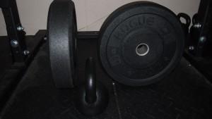 Rogue-Hi-Temp-Bumper-Plates-45lb-Punch-16kg-Kettlebell